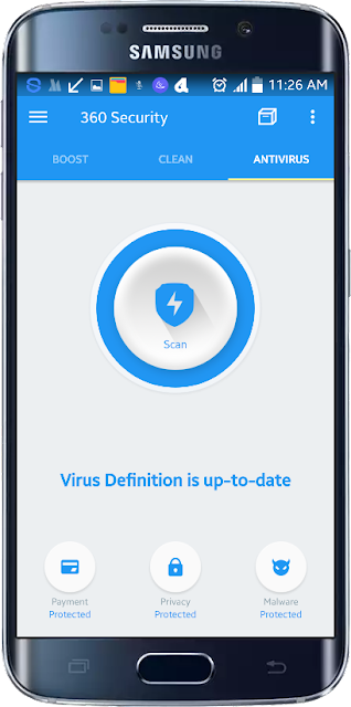 Android Ant-virus 360 Security செயலி