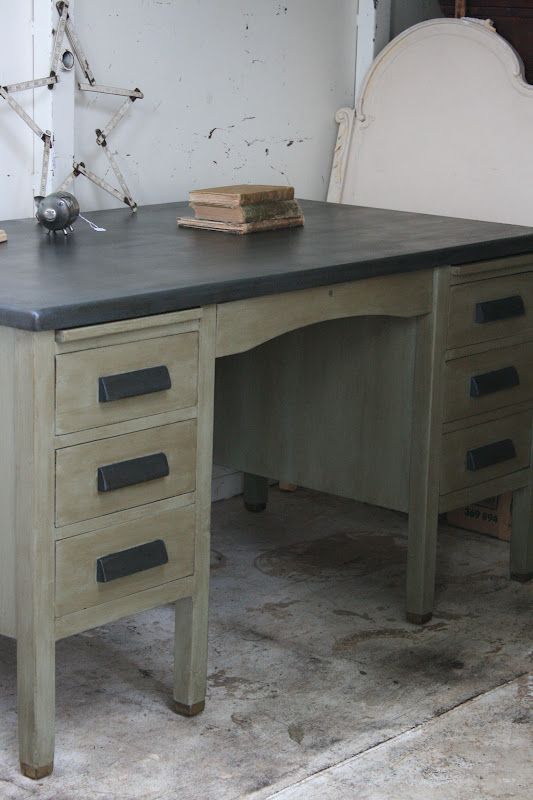 Vintage Teacher's Desk - Reloved Rubbish: Vintage Teacher's Desk
