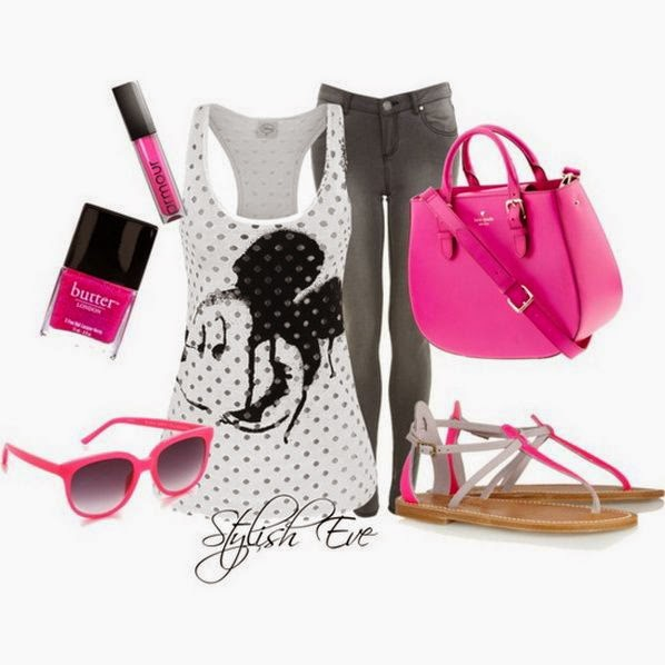 Mickey & Minnie Outfits 2013 for Women  with multiple combination accessories ladies fashion for summer