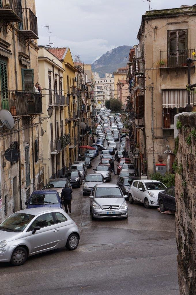 Traffic in Palermo Sicility Italy.