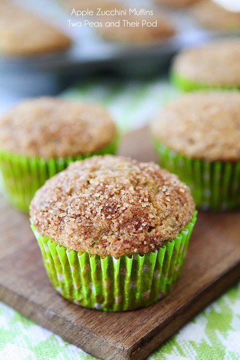 Image Name: Apple Zucchini Muffins @ Two Peas and their Pod