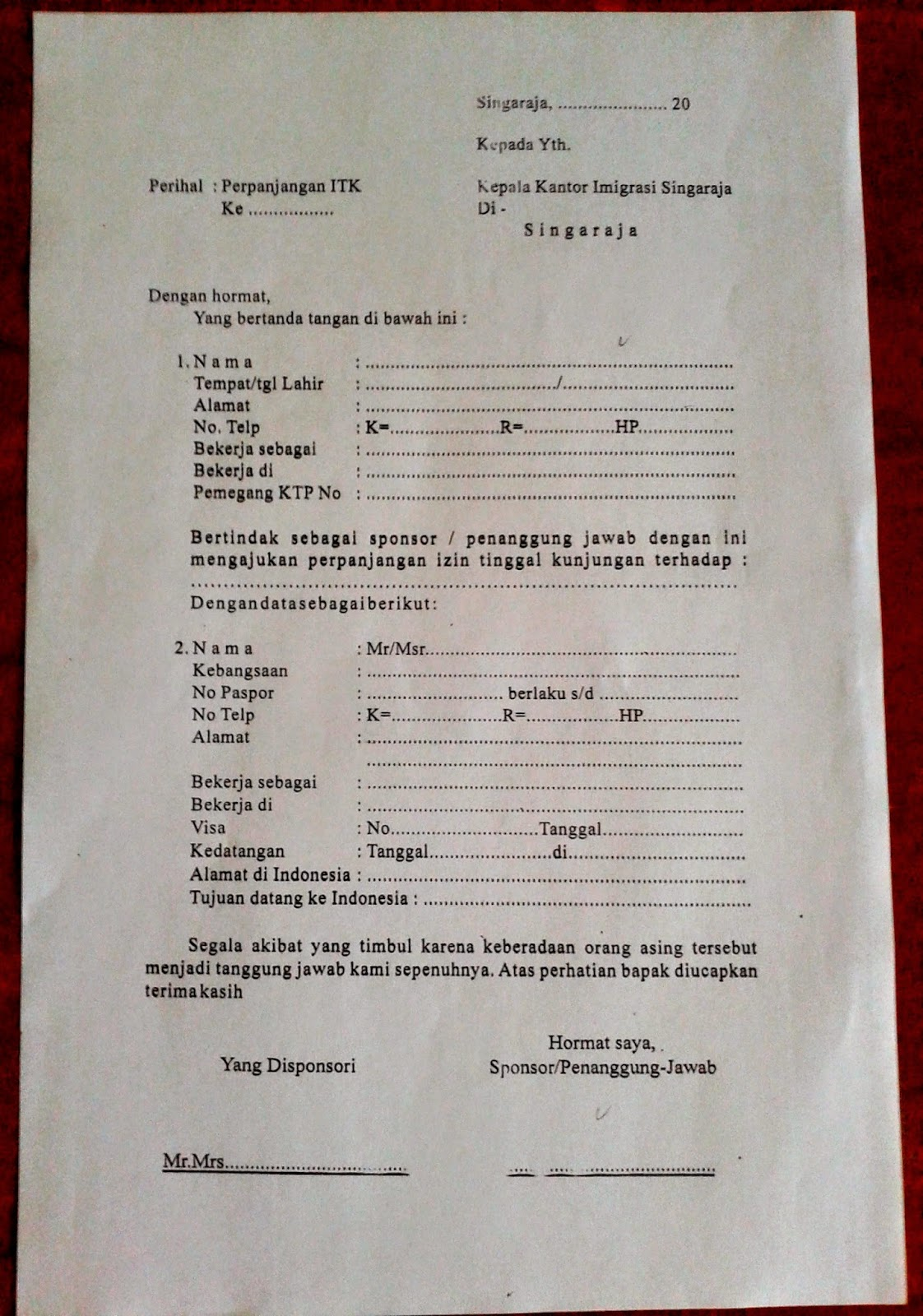 Sponsor letter social visa indonesia 28 images visa practical sponsor letter social visa indonesia the impermanents how to renew the social budaya in bali spiritdancerdesigns Image collections