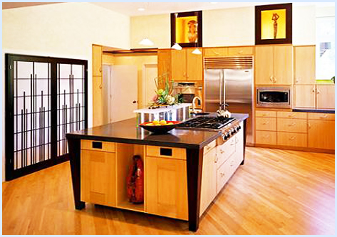 Kitchen colors asian kitchen design for Normal kitchen pictures