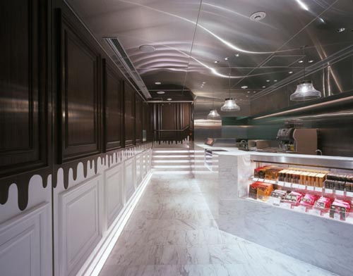 Luxury Cafe Chocolate Shop Interior Design