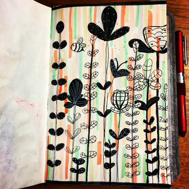 Doodling image from Lisa Congdon's class.