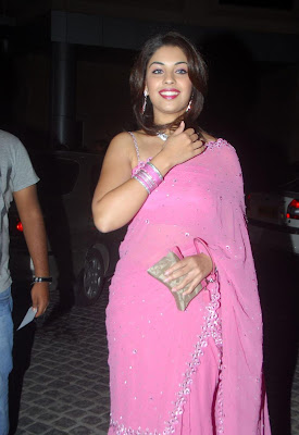 Richa Gangopadhyay Looking Sexy In Pink Saree