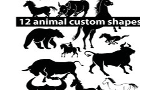 Animal Custom photoshop Shapes