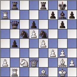 Partida de ajedrez Scheltinga vs. Lladó 1957, posición después de 24…Db6