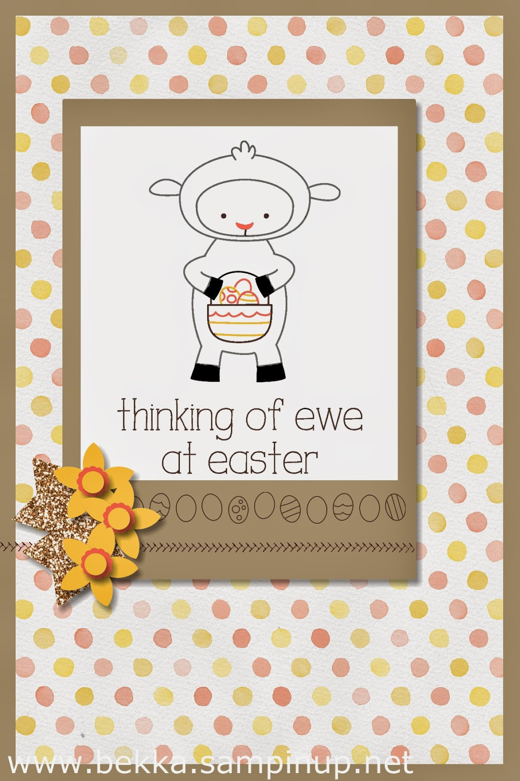 Digital Easter Card to brighten someone's in box - check out how you can do the same here