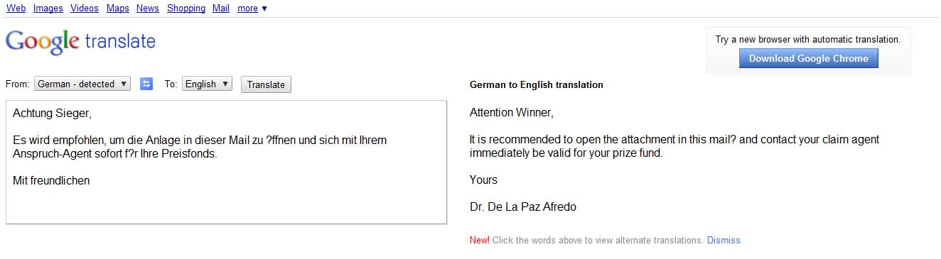 google translate pdf document to english