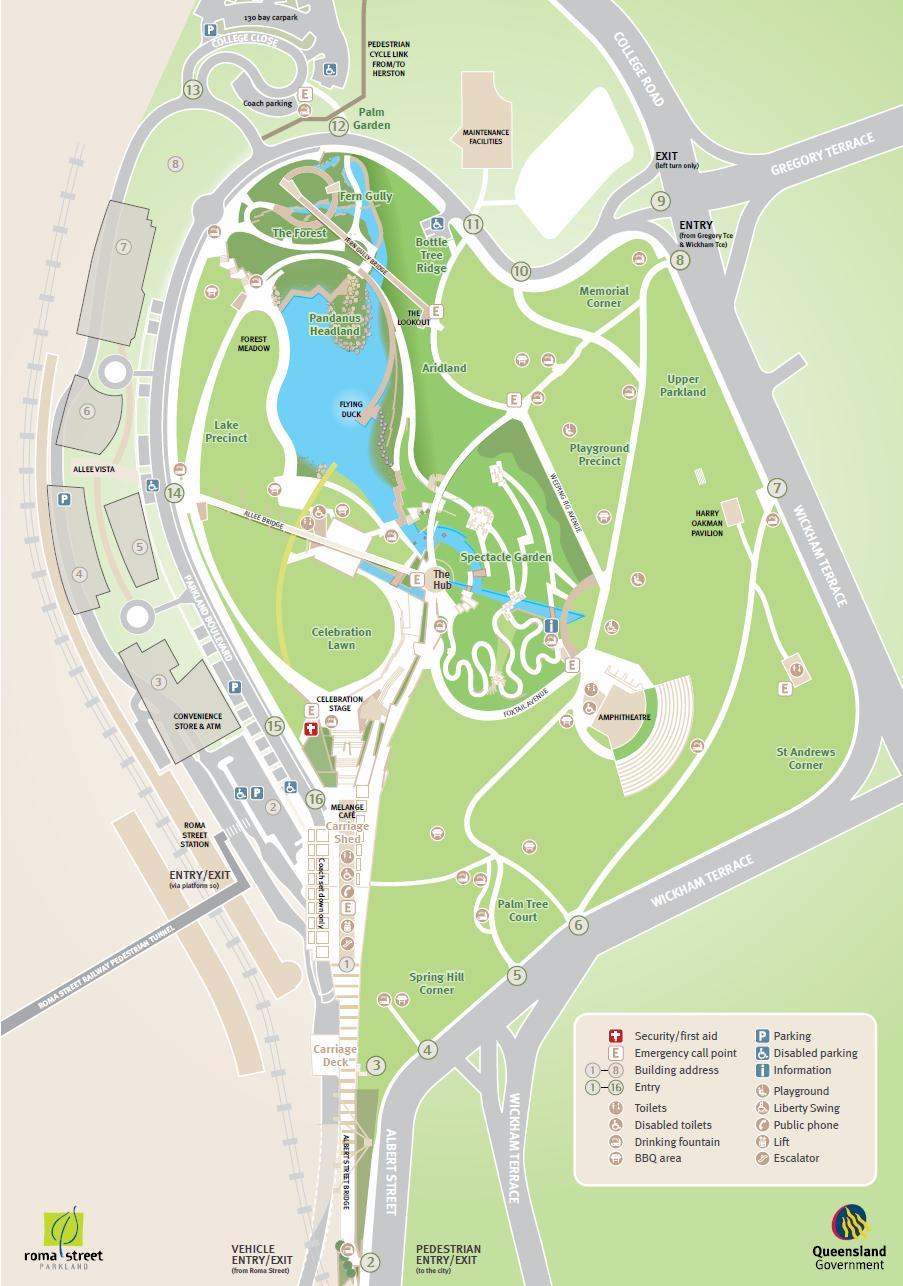 roma street parklands map pdf