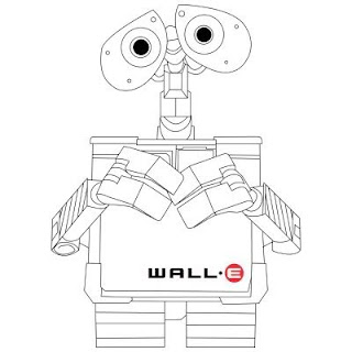 wall-e pictures to color