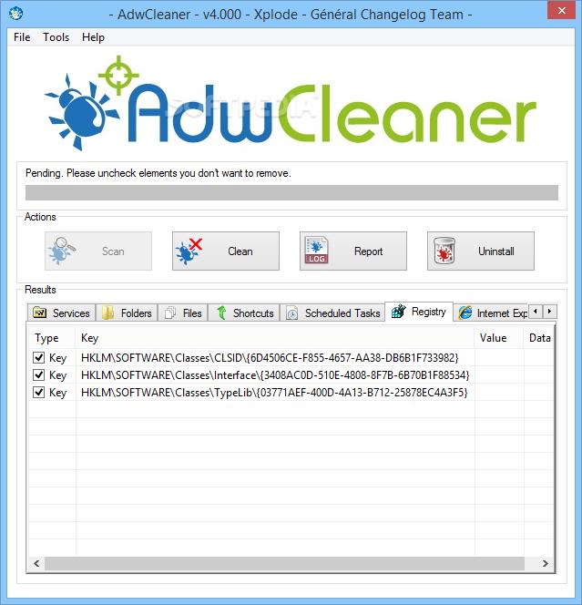 برنامج حذف الاعلانات من المتصفح AdwCleaner 4.112