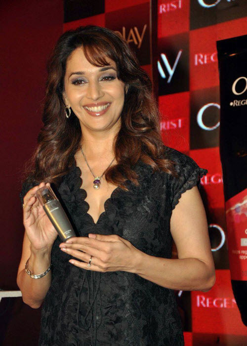 madhuri dixit in black event shoot glamour  images