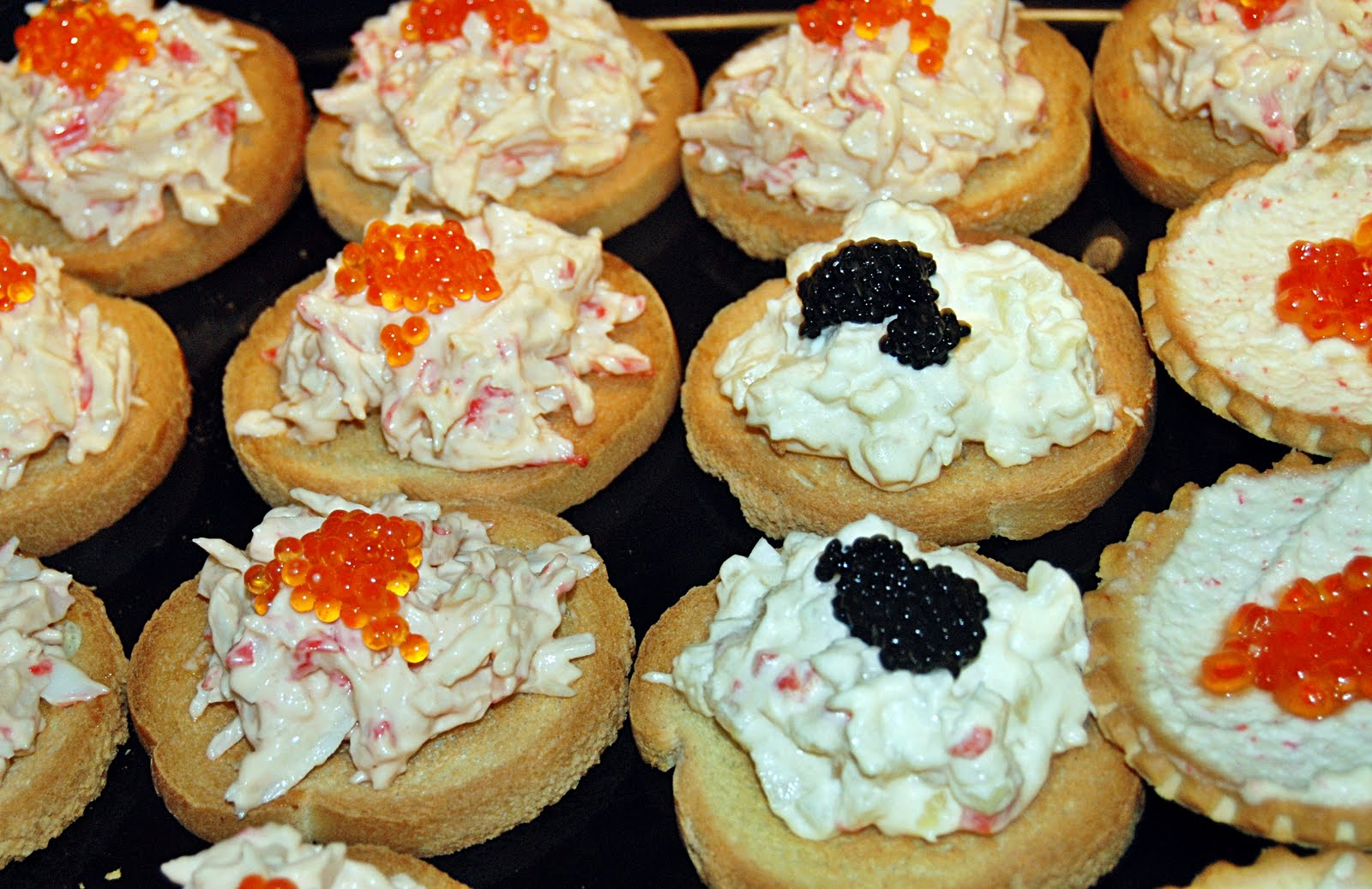Canap s caviar lidiacusac for Canape with caviar