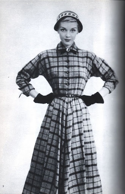 vintage plaid dress 1950s advertisement Just Peachy, Darling