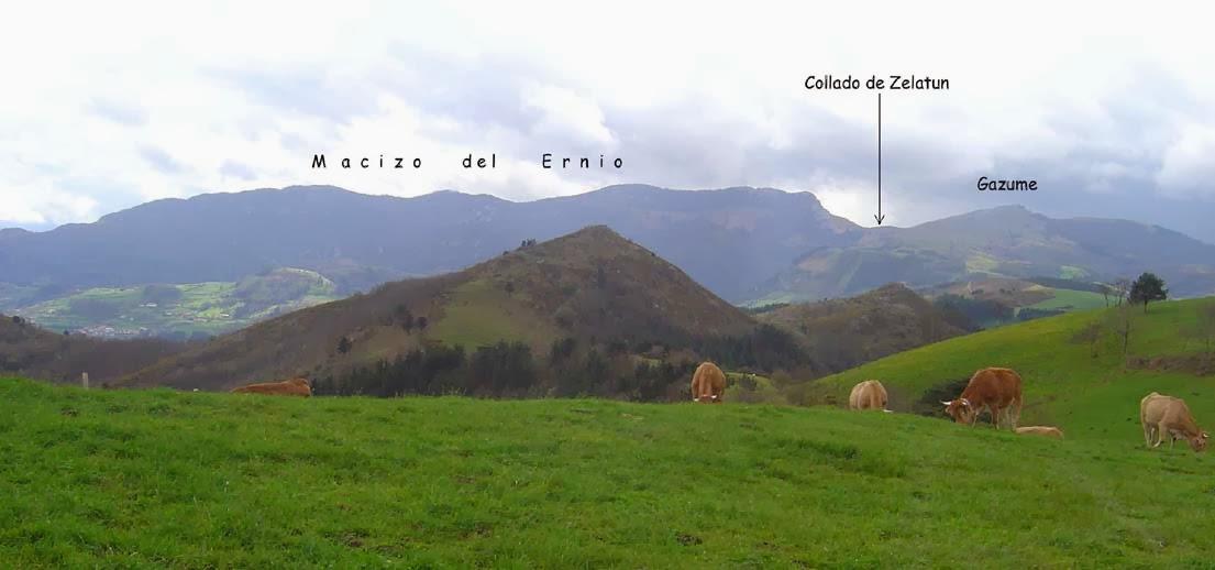 Vistas del Macizo del Ernio desde la zona de Andatza
