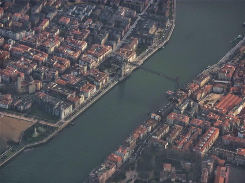 Vista aérea del Puente Vizcaya