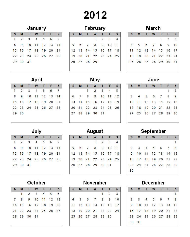 Buztown: 2012 calendar