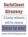 Gurlscloset Giveaway