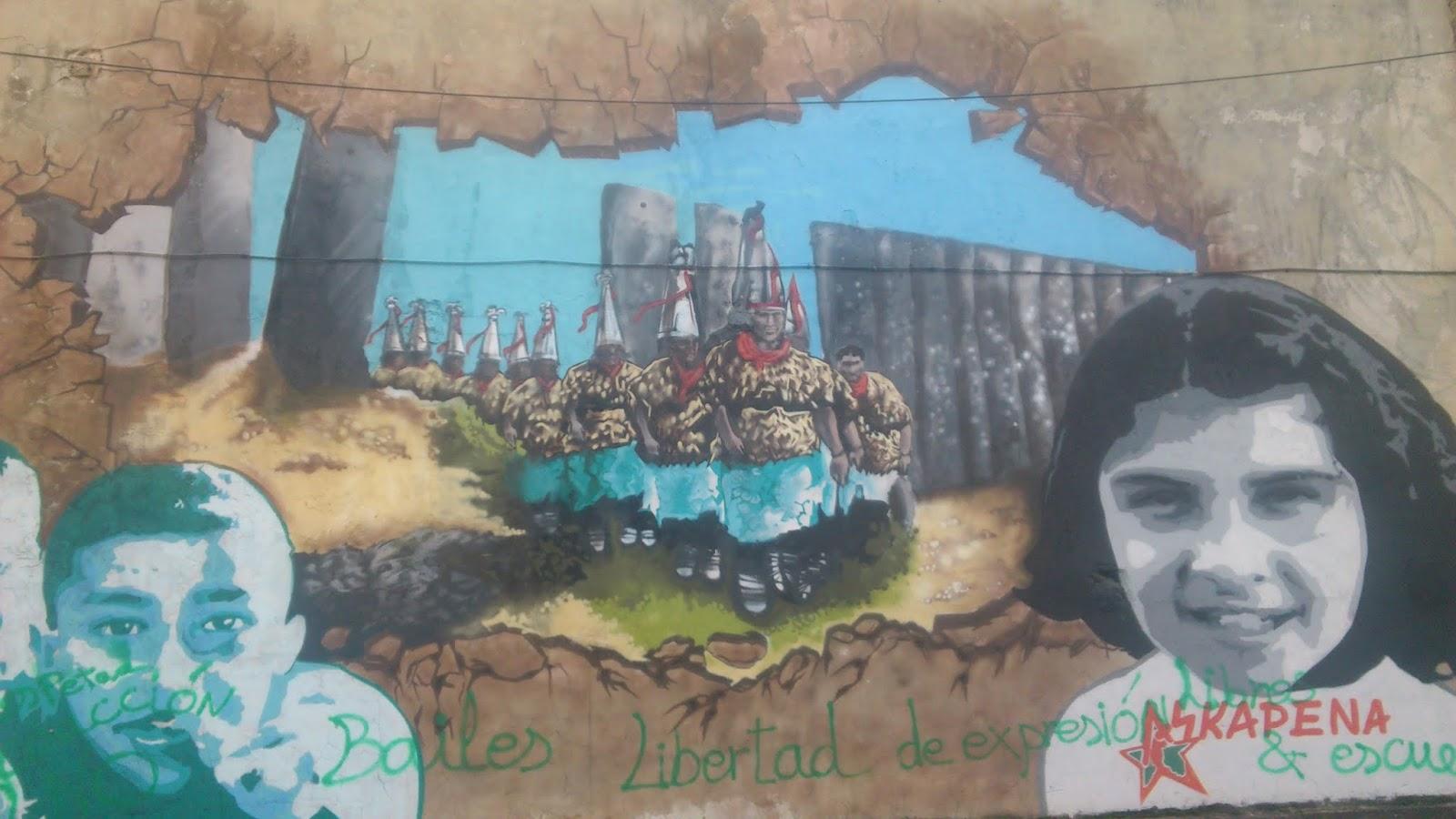 Mural de Vitoria Gasteiz de cerca