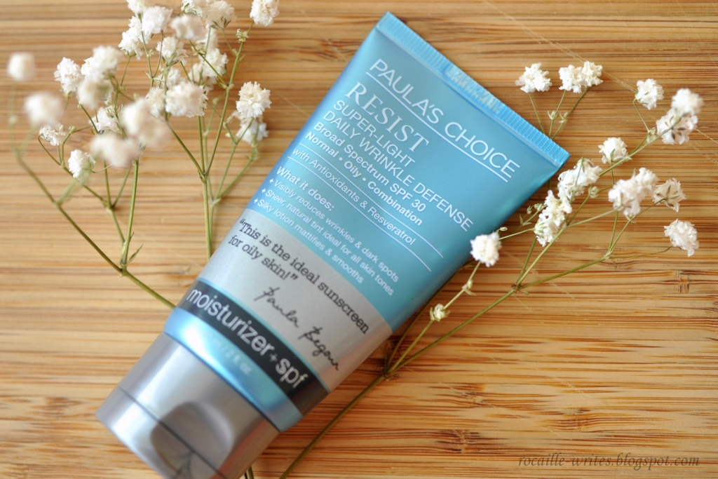 The Sunscreen Season: Paula's Choice Resist Super-Light Wrinkle Defense SPF30