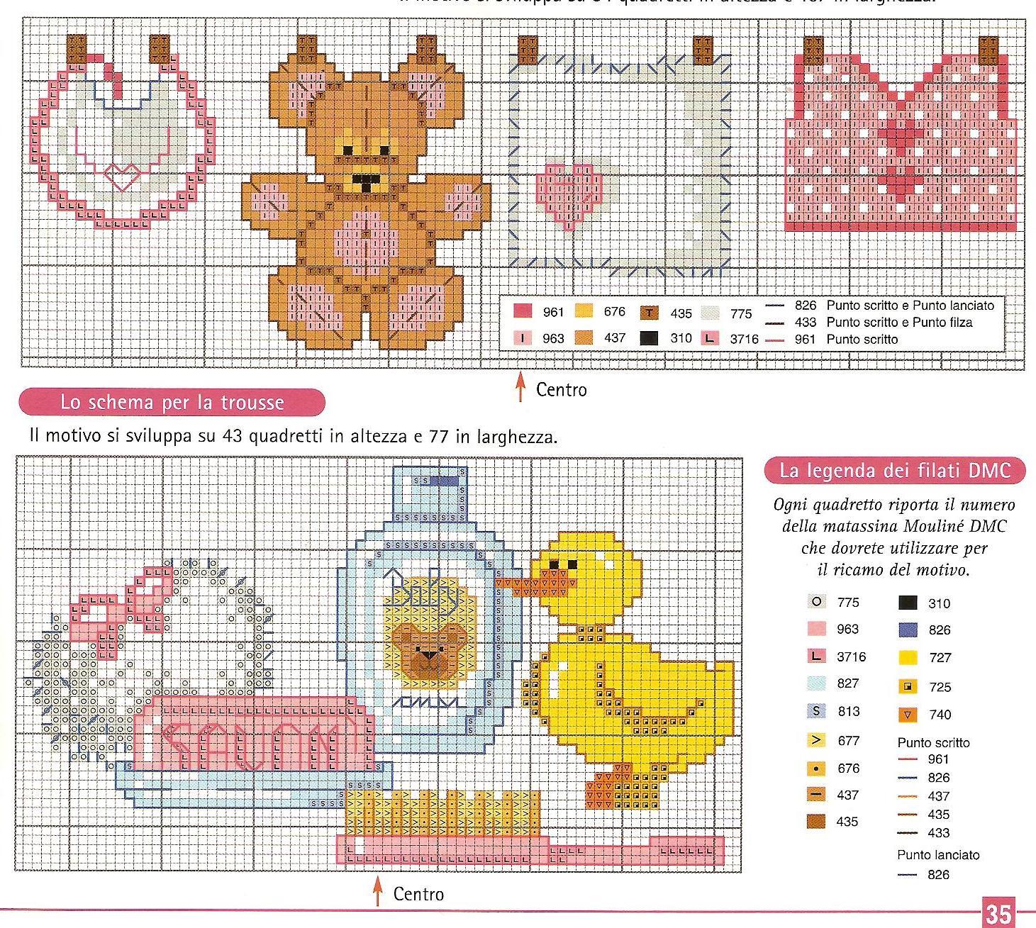 Grande raccolta di schemi e grafici per punto croce free for Schemi punto croce bagnetto bimbi