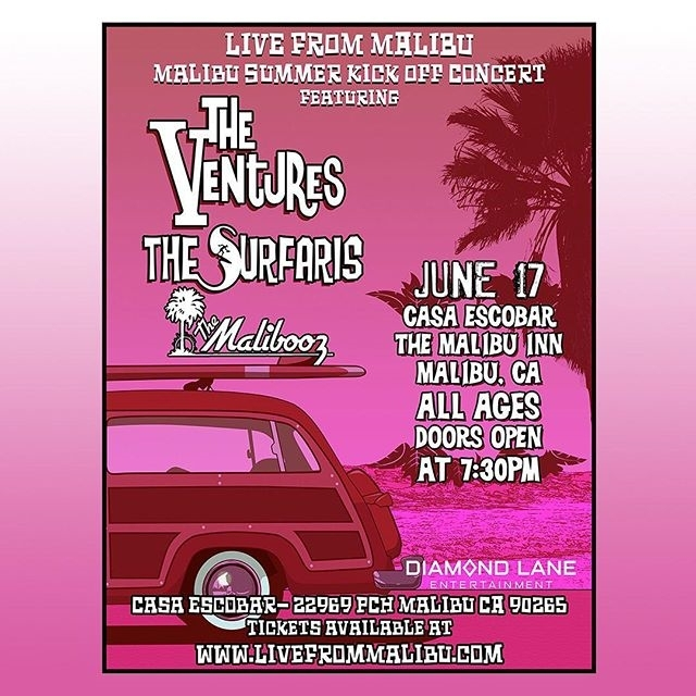 Live from Malibu - JUNE 17 (saturday)