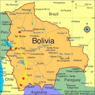 Bolivia Route Map