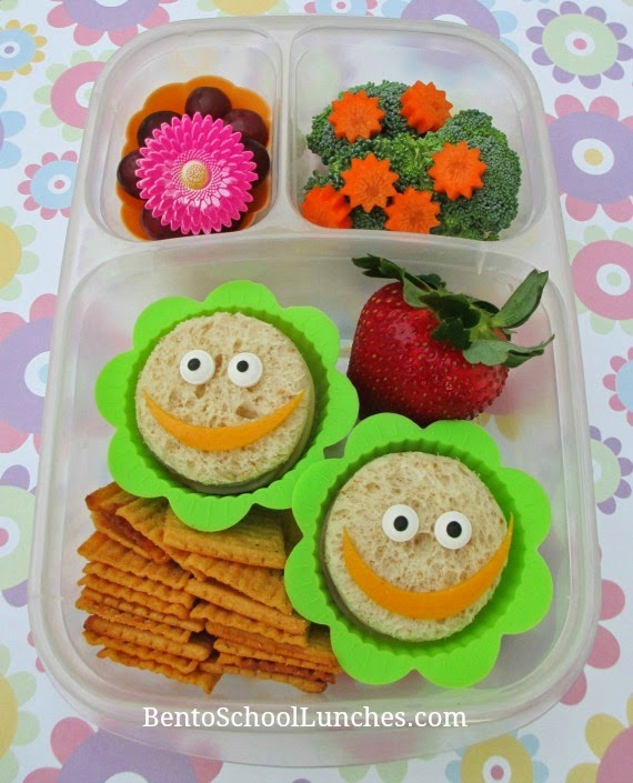 Spring Flowers, bento school lunches