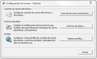 CPL para la gestión de perfiles de Outlook