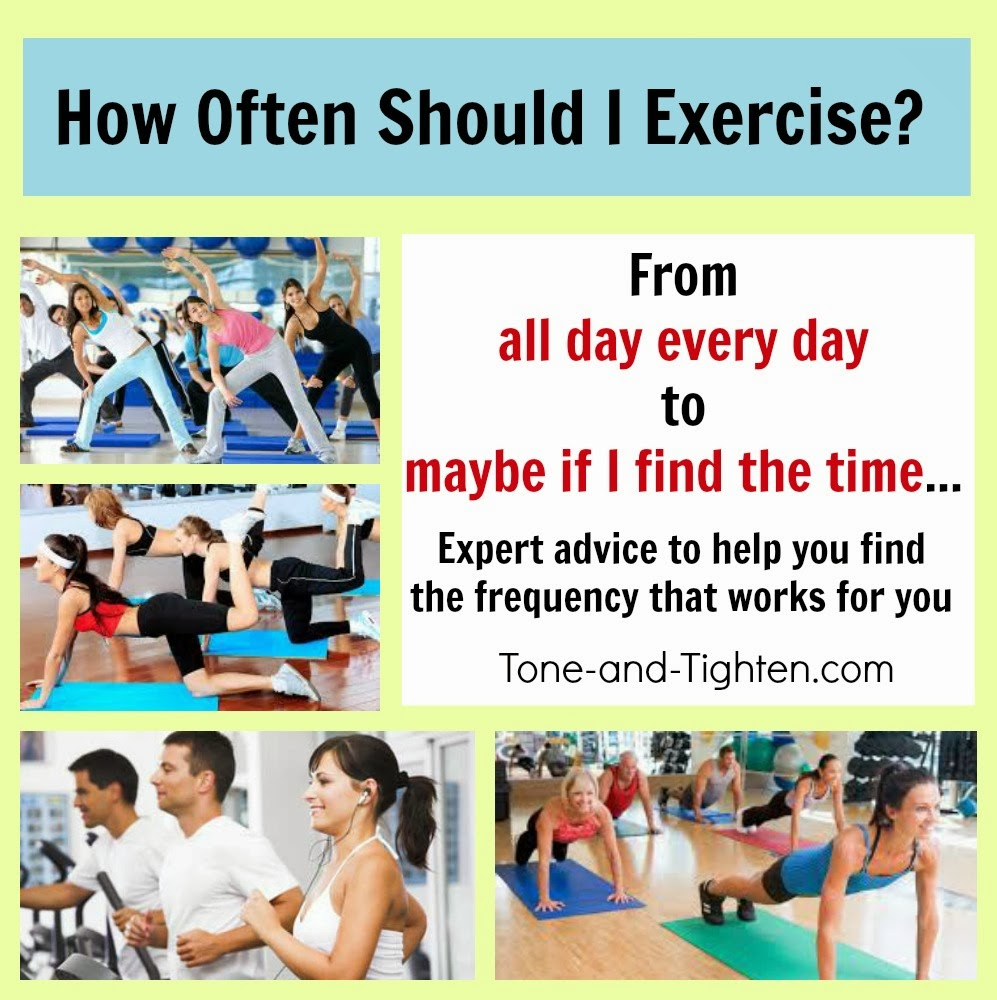 How often should i exercise find the frequency that s best for you