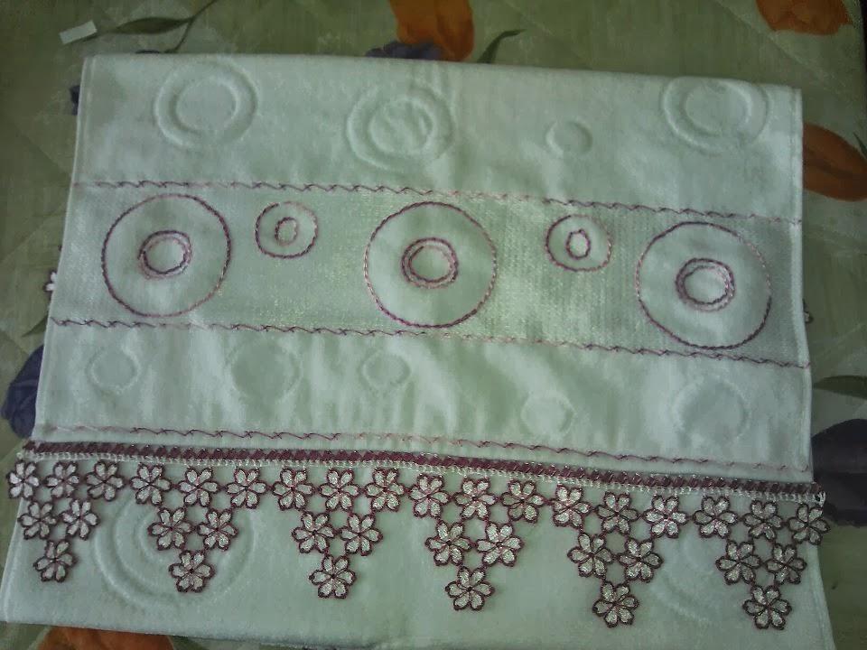 dantel oya havlu kenarı