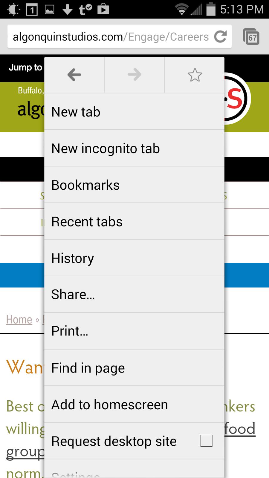Chrome print dialog.