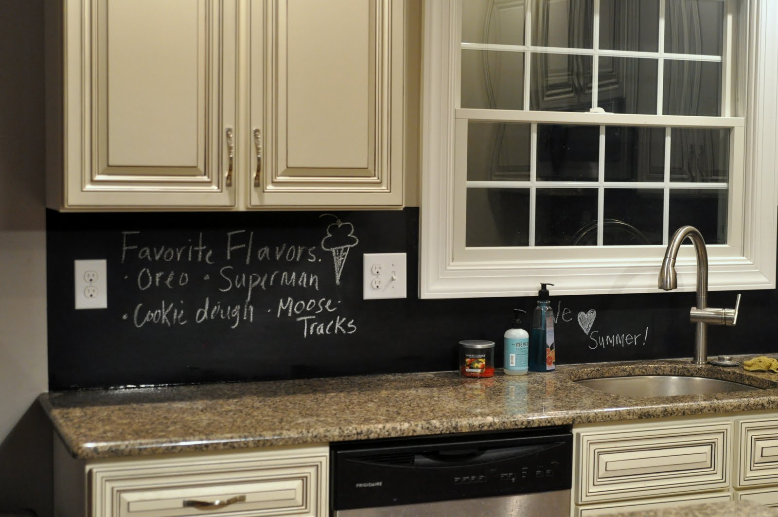 Kitchen update chalkboard style east coast creative blog for Kitchen chalkboard