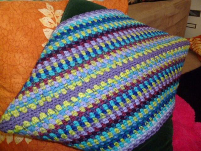 Crochet Moss Stitch : The 8th Gem: Crochet Moss Stitch Diagonal Cushion Pattern