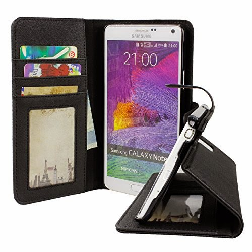 BUDDIBOX Protective Samsung Galaxy Note 4 Premium PU, Leather Wallet Case
