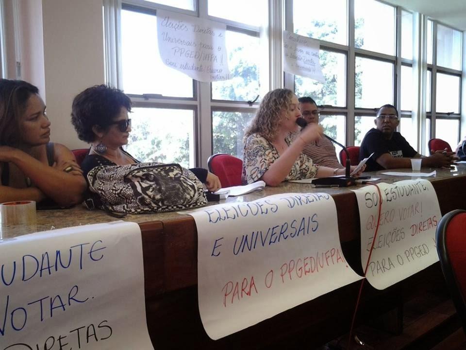 ELEIÇÕES DIRETAS E UNIVERSAIS NO PPGED/ICED/UFPA JÁ!