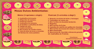 Mesas dulces!!