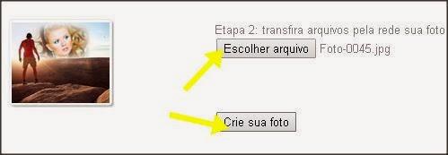 Escolher arquivo para fazer efeito fotográfico com miragem