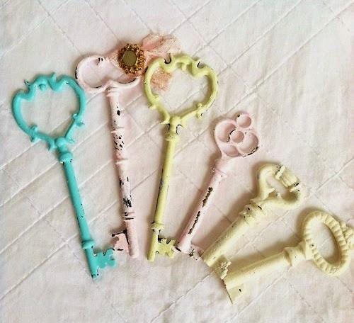 vintage pastel keys