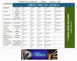 Asambleas de oracion 2015