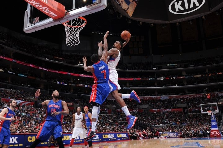 DeAndre Jordan slam on Brandon Knight