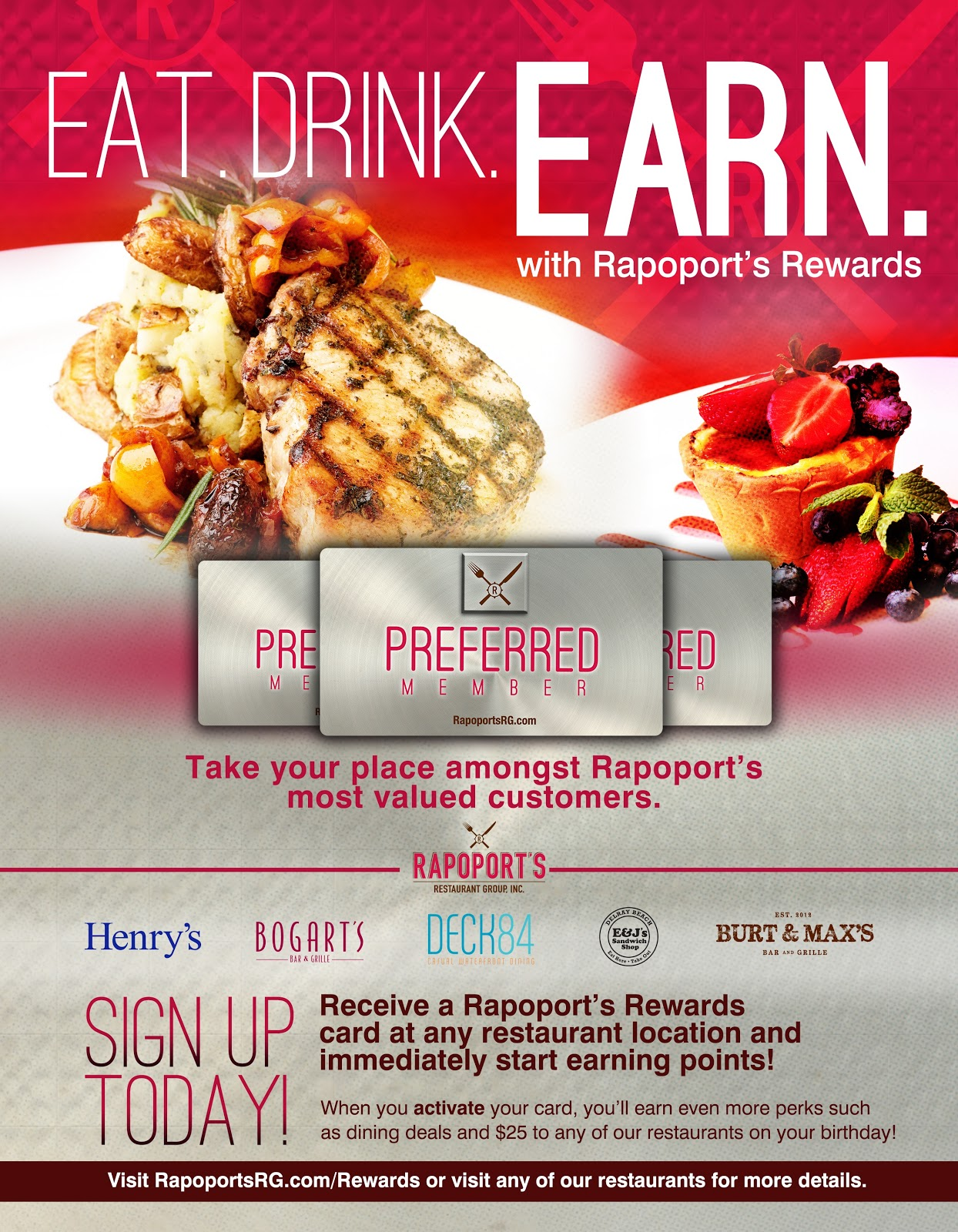 Rapoports Restaurant Group Offers Diners A New Rewards Program