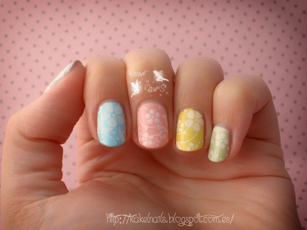 nails multicolor flores