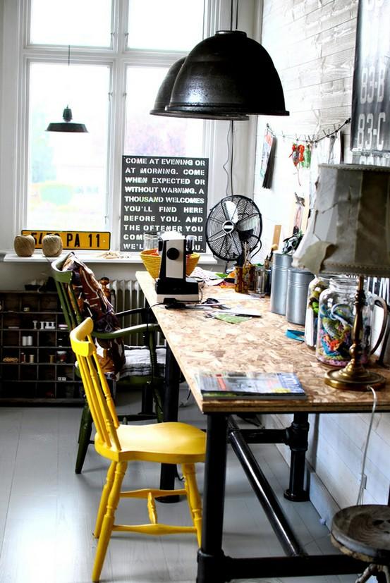 villa vanilla wohnzimmer:Cool Industrial Office