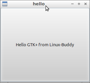 """Hello World"" of GTK+ 3 with C language"
