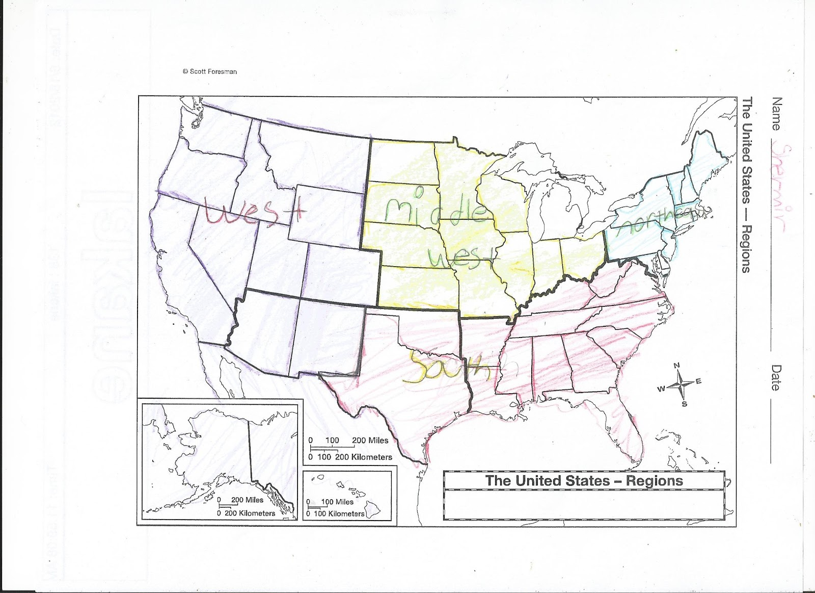 the four regions of the united states are the northeast where we live the south the middle west and the west here are some maps we ve created