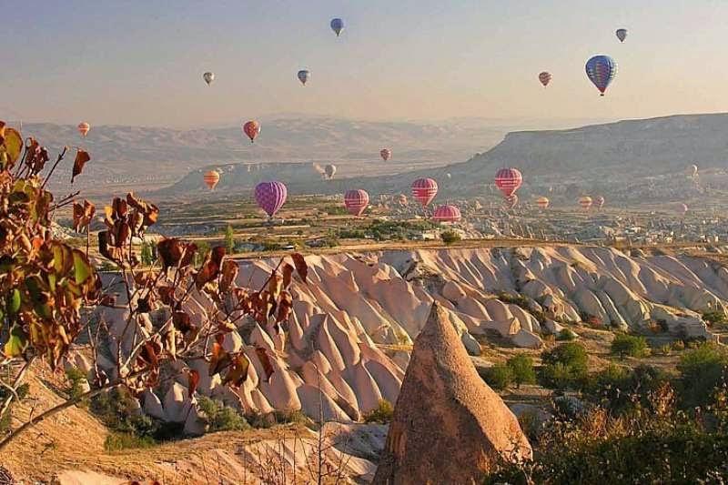 Luftballoner i Cappadocia regionen, Tyrkiet
