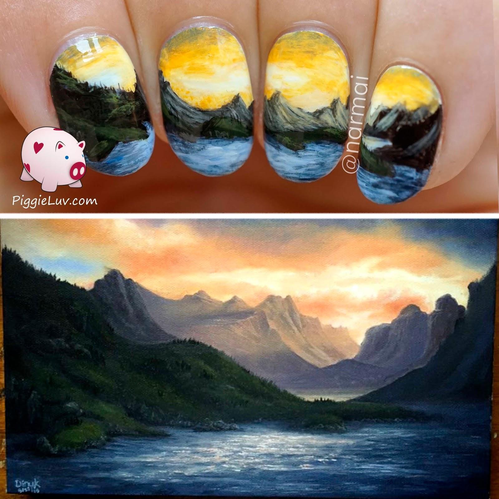 Маникюр пейзаж на ногтях
